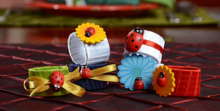 Rings and lady bugs Stock Image