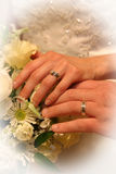 Rings of love. Wedding day photo stock images