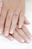 Rings and manicure a Royalty Free Stock Images