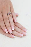 Rings and manicure Royalty Free Stock Photo