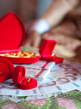 Rings and Money in Thai wedding Stock Photo