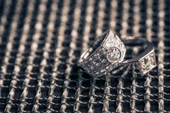 Rings newlyweds couple royalty free stock photo