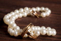 Rings and pearls Royalty Free Stock Image