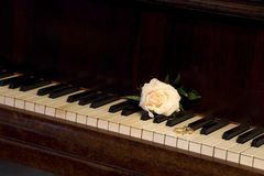 Rings on the piano Stock Photography