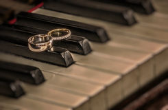Rings on piano Royalty Free Stock Photography