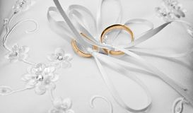 Rings on a pillow Royalty Free Stock Photo