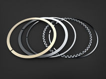 Rings piston Stock Images
