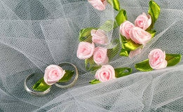 Rings and Roses Royalty Free Stock Images