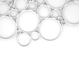 Rings and shadows over white backdrop, 3d Royalty Free Stock Photos