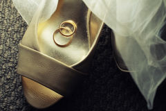 Rings on a Shoe Stock Image