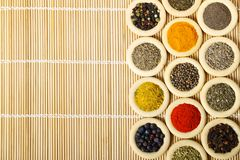 Rings with spices Royalty Free Stock Photography
