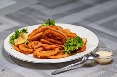 Rings of squid Stock Photo