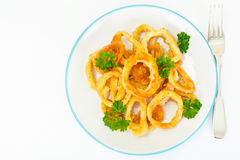 Rings of Squid Fried, Grilled Royalty Free Stock Image