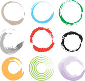 9 Rings Stains Hand Drawn Effect Stock Photography
