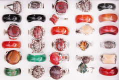 Rings with stones Stock Image