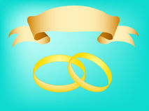 Rings and tapes Royalty Free Stock Photos