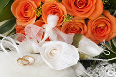 Rings for Valentine Day Royalty Free Stock Photography