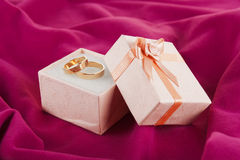 rings  for Valentine\'s Day Royalty Free Stock Images