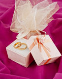 Rings  for Valentine\\\'s Day Stock Images