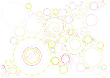 Rings , vector. Background with pink and green rings,vector illustration Royalty Free Stock Photos