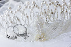 Rings and Veil Royalty Free Stock Images