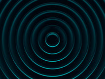 Rings. Vibrant cyan geometric background Stock Photo