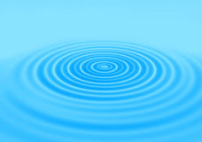 Rings of a water ripple. Blue gradient abstract background with rings on a water surface Stock Image