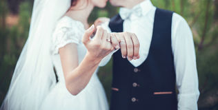 Rings for wedding Royalty Free Stock Image