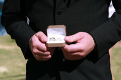 Rings before the wedding Stock Photography