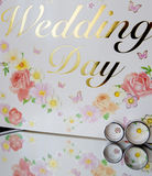 Rings on wedding day Royalty Free Stock Image