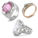 Rings on white Royalty Free Stock Photos