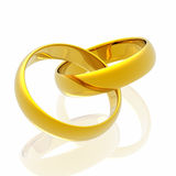 Rings in white background Royalty Free Stock Image