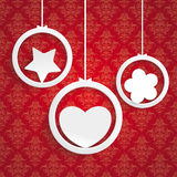 Rings White Heart Flower Star Ornaments Stock Image