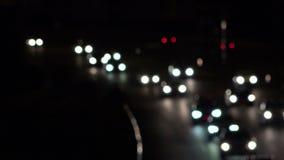Ringstraßenverkehr mit unfocused Steuerung stock footage