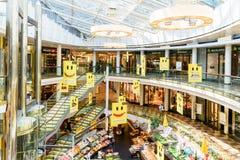 Ringstrassen-Galerien köpcentrum i Wien Arkivbilder