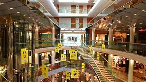 Ringstrassen-Galerien Shopping Center In Vienna stock footage