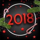 Ringsum 2018 Hintergrund des neuen Jahres 3d Lizenzfreies Stockbild