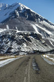 Ringsweg in IJsland Stock Afbeeldingen