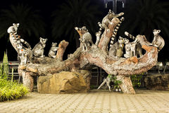 Ringtailed lemurs statue. In Thailand Royalty Free Stock Image