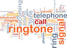 Ringtone word cloud Royalty Free Stock Photos