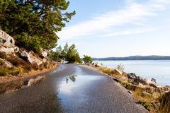 Strandvägen strandvaegen i Nynäshamn Nynaeshamn. Ringvägen ringvaegen by the coastline in Nynaeshamn Royalty Free Stock Photography