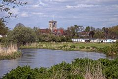 Ringwood. View Over The River Avon towards Ringwood Stock Photos