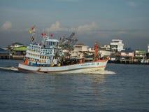 Ringzegen vissersboot Stock Foto