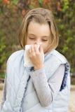 Rinite allergica Fotografia Stock Libera da Diritti