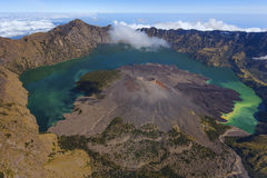 Rinjani山,印度尼西亚 图库摄影