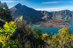 Rinjani活火山山,龙目岛美好的风景我 免版税库存图片