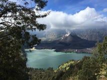 Rinjani berg Royaltyfri Fotografi