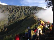 Rinjani berg Arkivfoto