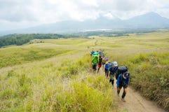 Rinjani Lombok Indonesia mountaineers Stock Photography