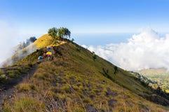 Rinjani mount campsite Royalty Free Stock Image